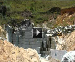 Watch this video of the Minas Soapstone quarry in Brazil