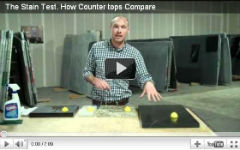 The Stain Test: How Counter tops Compare Watch a stain test video done on soapstone counter top and see for yourself why soapstone grades better than other natural stone. Only at Dorado Soapstone