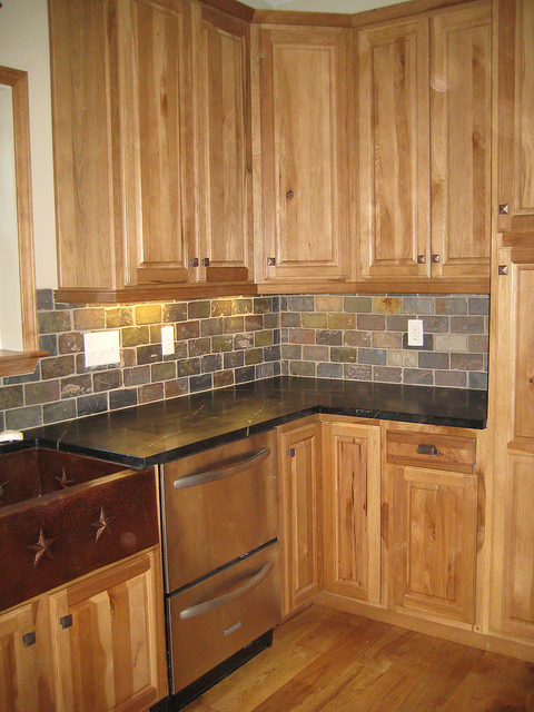 Kitchen Tile Ideas With Oak Cabinets