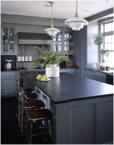 Industrial meets Traditional  with soapstone.