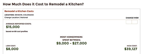 Home Advisor Kitchen Renovation Cost Guide